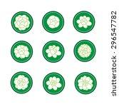 jasmine banner in a green... | Shutterstock .eps vector #296547782