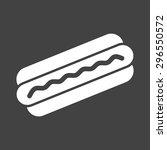 hotdog  sausage  fries icon... | Shutterstock .eps vector #296550572