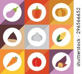 set of color vector icons corn  ... | Shutterstock .eps vector #296566652