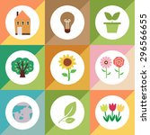 set of color vector icons pot ... | Shutterstock .eps vector #296566655