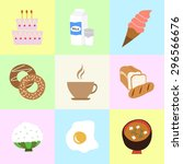 set of color vector icons ice... | Shutterstock .eps vector #296566676
