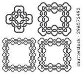 set of magic knotting frames...   Shutterstock .eps vector #296573492