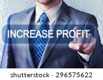 increase profit. businessman... | Shutterstock . vector #296575622