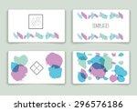 template. decor elements. hand... | Shutterstock .eps vector #296576186