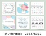 collection of hand drawn party... | Shutterstock .eps vector #296576312