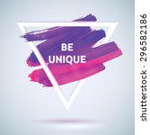 motivation triangle watercolor... | Shutterstock .eps vector #296582186