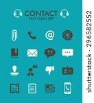 vector flat icon set   contact  | Shutterstock .eps vector #296582552