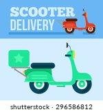 logistics and delivery scooter...