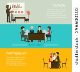 business style infographic with ... | Shutterstock .eps vector #296600102