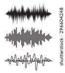 equalizer pulse heart beats... | Shutterstock .eps vector #296604248