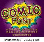 creative detail comic font.... | Shutterstock .eps vector #296611406