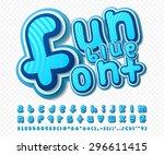 creative high detail comic font.... | Shutterstock .eps vector #296611415