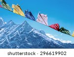 Buddhist Prayer Flags In The...