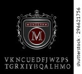 monogram design elements ... | Shutterstock .eps vector #296621756