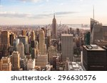 view of lower manhattan in new... | Shutterstock . vector #296630576