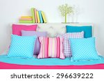 bed in room top view close up | Shutterstock . vector #296639222