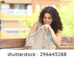 woman searching something in... | Shutterstock . vector #296645288