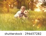 kid and dog | Shutterstock . vector #296657282