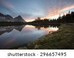 Reflection Of Mountains In...