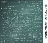 thermodynamics law theory and... | Shutterstock .eps vector #296657648