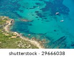 up view of sea water and boat...   Shutterstock . vector #29666038
