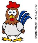 hen standing smiling | Shutterstock .eps vector #296664842