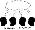 think tank  several heads... | Shutterstock .eps vector #296670305