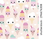 seamless colorful pastel... | Shutterstock .eps vector #296676308