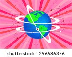 world globe connectivity | Shutterstock .eps vector #296686376
