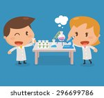 kids activity. flat character... | Shutterstock .eps vector #296699786