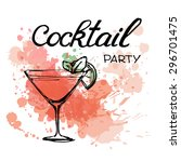 cocktail party invitation... | Shutterstock .eps vector #296701475