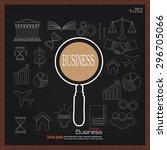 business plan.business concept... | Shutterstock .eps vector #296705066