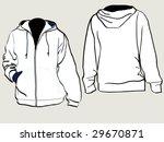 zipper jacket with hood...   Shutterstock .eps vector #29670871