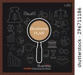 business plan.business concept... | Shutterstock .eps vector #296711186