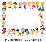 kids and frame | Shutterstock .eps vector #296720465