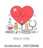 medicine background with the... | Shutterstock .eps vector #296728448
