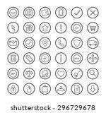e commerce. online shop linear...   Shutterstock . vector #296729678