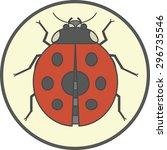 ladybug icon | Shutterstock .eps vector #296735546