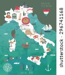 Italy Map Print Design