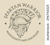symbol spartan  greek  warrior  ... | Shutterstock .eps vector #296743325