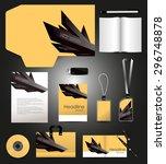 stationery design corporate... | Shutterstock .eps vector #296748878