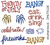 glitter fourth of july | Shutterstock . vector #29675128