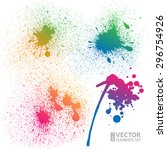 Set Of 4 Isolated Colorful...