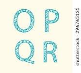 "doodle alphabet. letter ""o""  ""p""...   Shutterstock .eps vector #296765135"