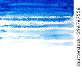 Blue Watercolor Brush Strokes...
