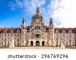 Stock photo new rathaus in hannover 296769296