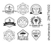 set of different logotype... | Shutterstock .eps vector #296776532