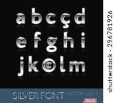chrome  metal  silver  alphabet ... | Shutterstock .eps vector #296781926