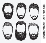 hipster hair and beards ...   Shutterstock .eps vector #296785538