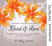 wedding invitation | Shutterstock .eps vector #296786792